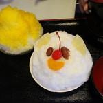 丸三(まるみつ)冷し物店 - 白くま&かき氷(マンゴー)