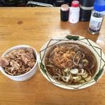 58785524 - 天ぷらそば+小肉煮丼セット。