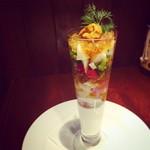 池尻×Grande Ponte - 魚介と野菜のパルフェ仕立て