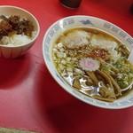 つけ麵 魚雷 - 中華そば・肉飯セット(2016/10)