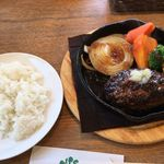 ノース プレイン ファーム緑園 - 料理写真:ランチハンバーグ(日替わり野菜はタマネギ)