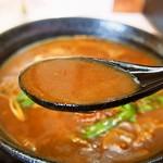 麺くい やまちゃん - かすカレーうどん(出汁)