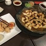 58789757 - 一口餃子と明太子の天ぷら