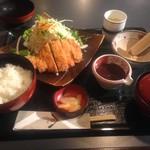 58792590 - 八鹿豚山椒味噌かつ定食(¥1390)
