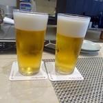 サカナザ - ビールで乾杯です(^^)