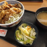 吉野家-豚生姜焼丼450円+Bセット130円
