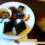 つるのIORIカフェ - 2016.11.13おむすび定食