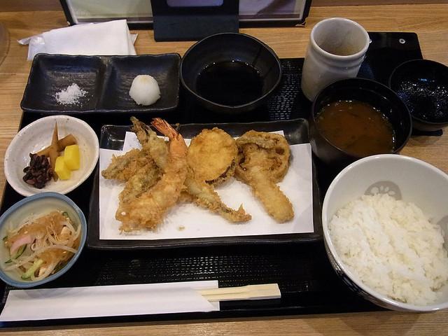 てんぷら祥天 - おまかせ天ぷら定食 980円