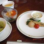 chuugokuryouritoukou - ランチの前菜、サラダ、スープ