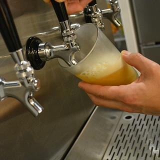 生クラフトビールや日本酒などドリンク充実しております♪