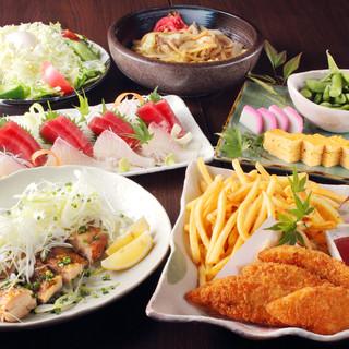 季節の食材や旬のとれたての魚介が味わえる!