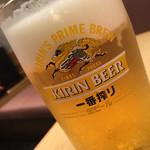 すし遊洛 - 生ビール