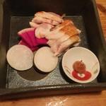 58808097 - 京地鶏のムネのタタキ