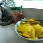 ラーメンショップ - 卓上無料調味料と無料タクアン