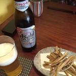 58812812 - 先ずはノンアルですがビールと骨せんべい