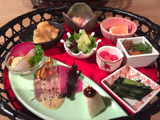 粟 ならまち店 - 大和伝統野菜の籠盛