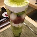和風カフェ 次元 - 抹茶パフェ(2016年8月)