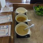 サンペルラ志摩 - ドレッシングは3種類 お勧めは野菜のドレッシング