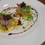 カフェ ブル - 鴨のフォアグラと胸肉のロースト1