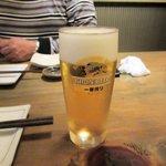 芳べえ - 生ビール2016.11.13