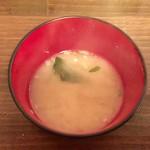 豊平探偵団 - レバニラ定食のお味噌汁です。