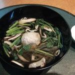 5883448 - 吸い物/鶏つくねの沢煮椀