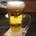 菜の音 - 生ビール\480