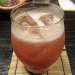 菜の音 - にごりフルーツ酒 苺(ソーダ割り)¥480