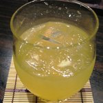 菜の音 - にごりフルーツ酒 カンカン(ロック)¥480