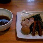 58830168 - つけ麺大盛+味付玉子