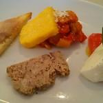 トラットリア オットブラータ - ランチの前菜盛り合わせ(2016年9月)