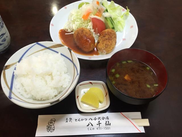 八千仙 - カニコロッケランチ880円。