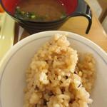 にじいろレストラン - たこ飯&みそ汁