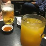 58843979 - 生ビールとオレンジチューハイ