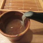 蕎麦切 砥喜和 - 粘度の強い蕎麦湯