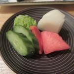 蕎麦切 砥喜和 - 「漬物」