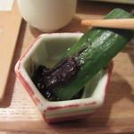 蕎麦切 砥喜和 - そば味噌胡瓜