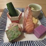 蕎麦切 砥喜和 - 「彩り前菜」