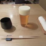 蕎麦切 砥喜和 - 「生ビール」