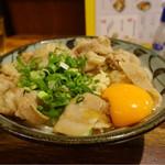野らぼー - 釜肉ぶっかけうどん卵付き