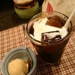 タパス - キャラメルミルクのアイス・アイスコーヒー。