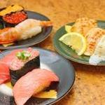江戸前回転鮨 弥一 - 料理写真:いろいろ楽しむなら。お得な3貫盛り