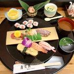 寿司田 - 料理写真:ランチ:寿司セット