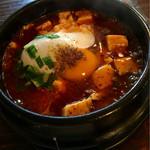 58851238 - ランチ 麻婆石焼ご飯(スープ付き)  ¥780