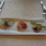 KIHACHI ITALIAN - ヴァリアンテランチ:前菜3種盛り合わせ