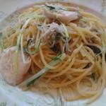 KIHACHI ITALIAN - メダイ しらす 水菜 ペペロンチーノスパゲッティ