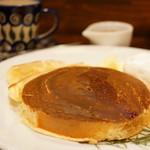 カフェ香咲 - ホットケーキ (¥750)、ロイヤルブレンド (¥660)