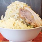 ラーメン二郎 - 料理写真:小ラーメン+野菜マシニンニクマシマシ