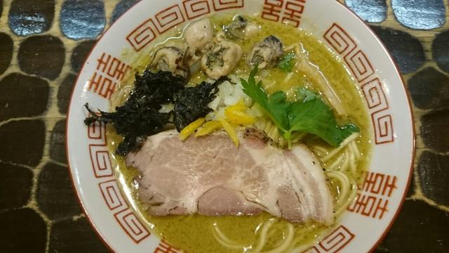 特級鶏蕎麦 龍介 - 牡蠣!