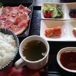 食道楽 - 黒毛和牛A5ランクのカルビ定食